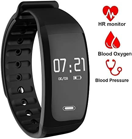 SKI-OUYA Fitness Tracker,Waterproof Activity Tracker with Heart Rate Blood Pressure Blood Oxygen Monitor,Smart Wristband with Calorie Counter Watch Pedometer Sleep Monitor Bluetooth Bracelet