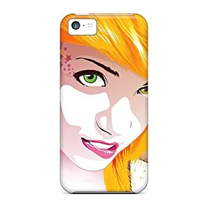 Anti-scratch And Shatterproof Tattoo Star Girl Phone Case For Iphone 5c/ High Quality Tpu Case
