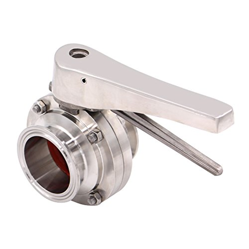 Dernord Butterfly Valve with Trigger Handle Stainless Steel 304 Tri Clamp Clover (2 Inch Tri Clamp Butterfly Valve) by Dernord (Image #1)