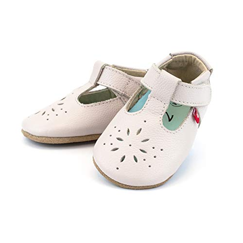 (Zutano Easy On Leather Mary Jane Baby Shoes, Dove, 18M)