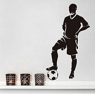Pegatinas De Pared Decorativas Jugador De Fútbol Se Detuvo