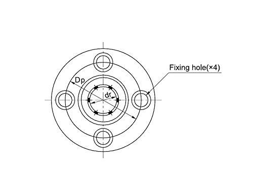 lange Ausführung Linearlager mit rundem Flansch 10mm LMF10LUU