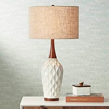 Cosgrove Mid Century Modern Table Lamp Ceramic White