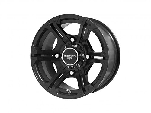 SuperATV Bandit Wheels H-Series For Polaris - Black - 14 Inch - 4/156 Bolt Pattern (for 3/8'' and 12 mm studs) by SuperATV.com