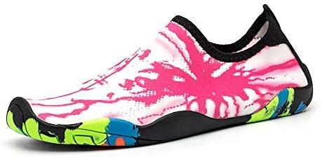 アウトドアビーチシューズ男性と女性のスイミングシューズダイビングシューズ低シュノーケリングシューズストレッチ布ラバーアウトソールライトウィッキングコンフォートスピード干渉ウォーター上流の靴 ポータブル (色 : Pink, Size : US10.5)