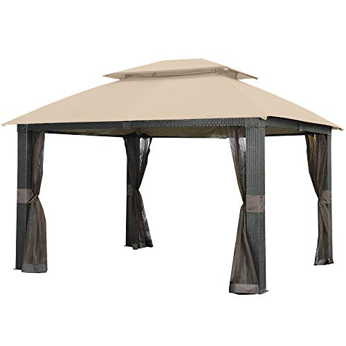 (Garden Winds Revella Gazebo Replacement Canopy - RipLock 350)