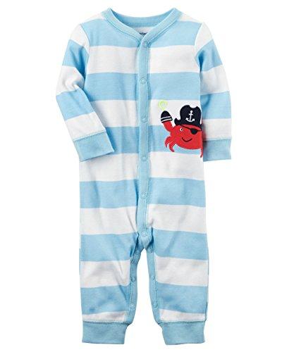 Carter's Baby Boys' Striped Crab Footless One Piece Newborn