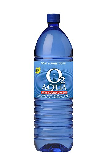 O2 Aqua Oxygenated Purified Water, 6 Count