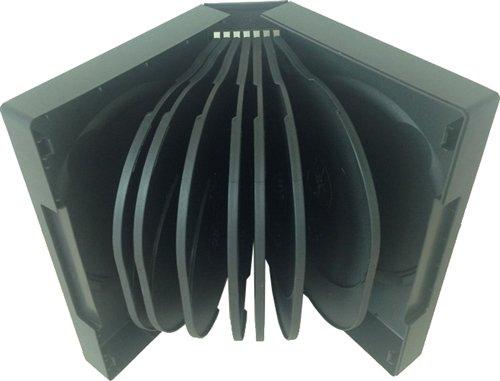 Mediaxpo Brand 10 Black 16 Disc DVD - Cases Black Disc Dvd 10