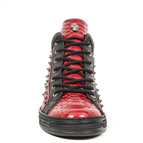 New Rock Boots M.ps021-s6 Gotico Hardrock Punk Herren Stiefelette Marciume