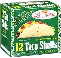 La Tiara White Taco Shell (Box of 12)