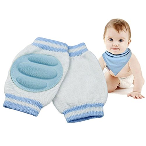 Blue Baby Leg Warmers Pads Cotton Baby Greave Safety Crawling Elbow Cushion Toddlers Knee Protector Baby knee Pads Kids
