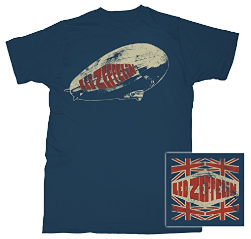 Led Zeppelin Legends Union Jack T-Shirt - Navy
