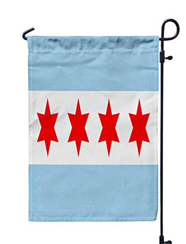 Shorping Yard Garden Flag, 12x18Inch for Holiday and Seasonal Double-Sided Printing Yards Flags Chicago Vector Flag ()