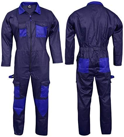 NORMAN Bleu Marine Hommes Combinaisons Combinaison de Travail Global pour Entrep/ôt M/écaniciens Travail Wears