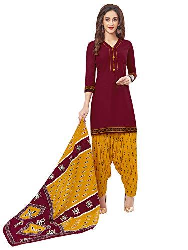Jevi Prints Women's Cotton Printed Readymade Stitched Salwar Suit Dupatta (SUIT_CP-240)