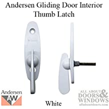 Andersen® Tribeca Style - Gliding Door Thumb Latch in White Color