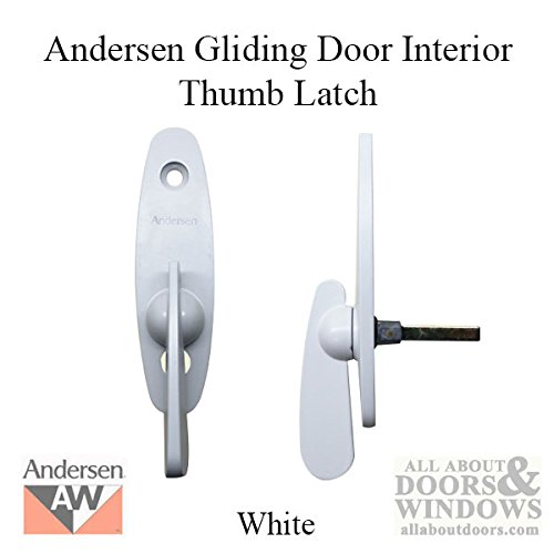 Andersen® Tribeca Style - Gliding Door Thumb Latch in White Color (Patio Narroline Doors Andersen)
