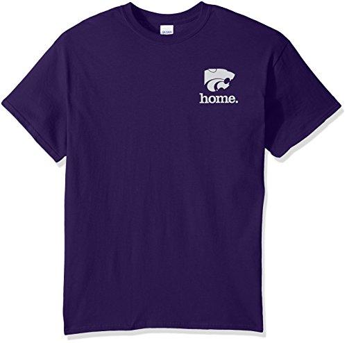 New World Graphics NCAA Kansas State Wildcats State of Mind Short Sleeve Tee, Large, Purple -