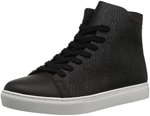 A|X Armani Exchange Men's Embossed Print High Cut Sneaker