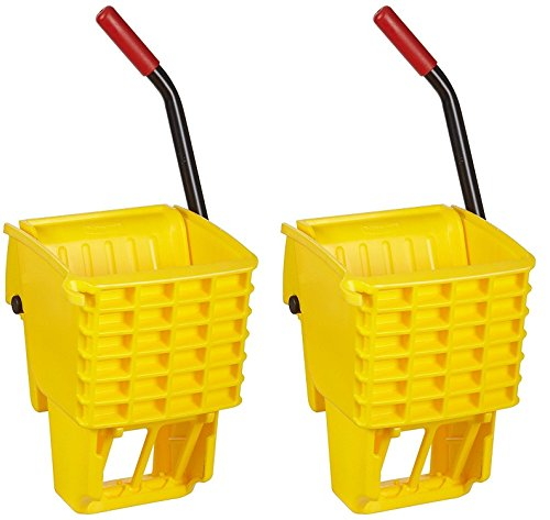 Rubbermaid Commercial FG612788YEL Side-Press Wringer for 13- to 32-ounceWaveBrake Mop Buckets, Yellow (2 PACK)