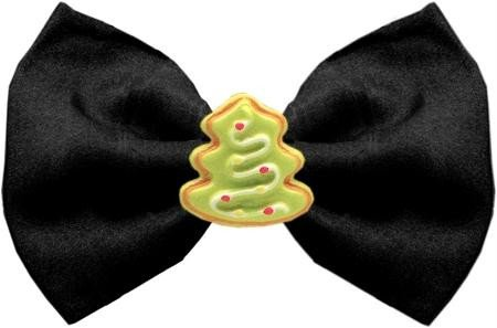 Mirage Pet Products 47-09 BK Christmas Tree Chipper Black Pet Bow Tie, Small