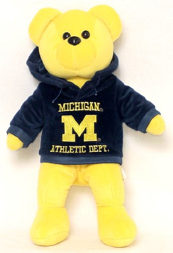 NCAA Michigan Wolverines Hoodie Bear