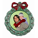 Green Christmas Wreath Photo Ornament - 50 Pack