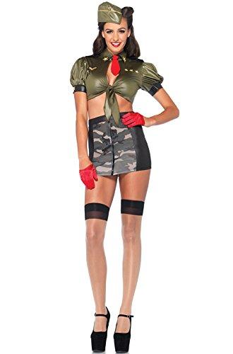 Leg Avenue Women's 3 Piece Corporal Cutie