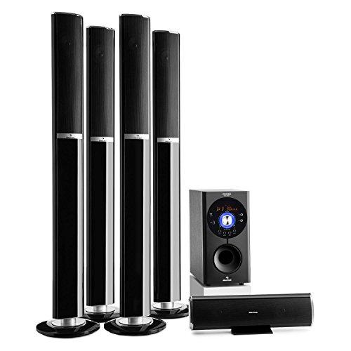 auna Areal 652 Surround Sound System 5.1-kanaals thuistheatersysteem Luidsprekersysteem (145 watt RMS, 16,5 cm (6,5…