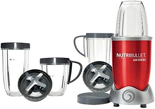 Nutribullet – Pack nutri600r Kit – Licuadora 0.95l 600 W rojo + ...