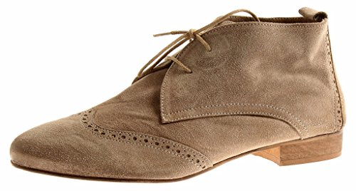 Isabelle Leather Ankle Boots Ladies Shoe Leather Schnürbootie Ladies Suede 7089 Taupe VivayH8R