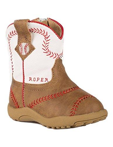 Roper Boys' Baseball, Tan, 2 M US Infant