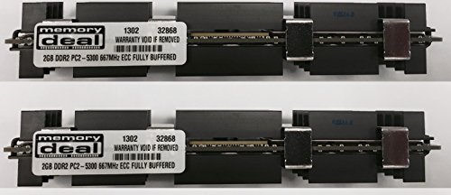 - 4GB (2 X 2 GB) RAM Memory for Apple MAC PRO 2006 1st Gen 1,1 (DDR2 4 GB 667MHz ECC FB DIMM)
