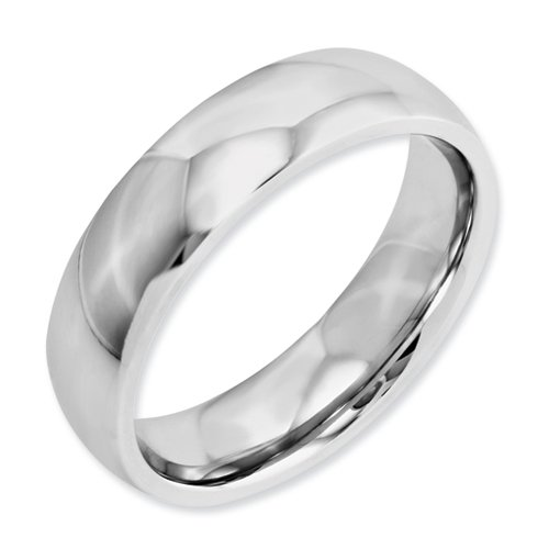 Best Quality Free Gift Box Satisfaction Guaranteed Cobalt Polished 6mm Band