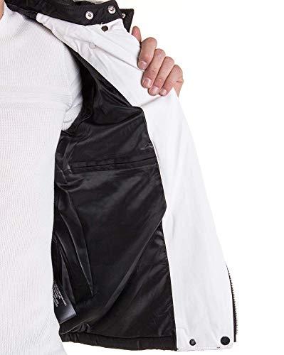 zippes Blouson Noir Blz Jeans Fourrure À Blanc Multi Capuche Veste Fausse wCqUSUHI