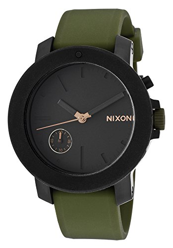 Nixon Women's 'Raider' Quartz Stainless Steel and Silicone Casual Watch, Color:Green (Model: A317-1089-00)