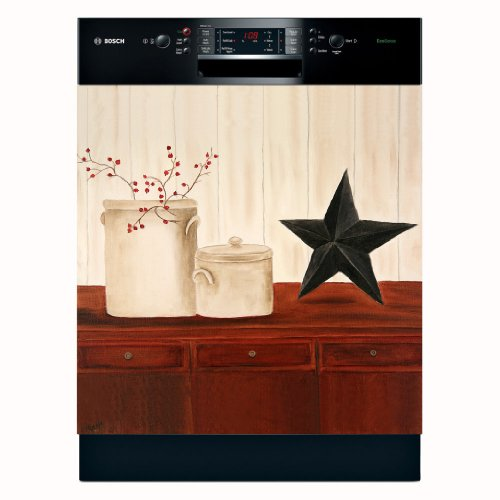 Crocks & Star Dishwasher Magnet Cover (Large) by Appliance Art