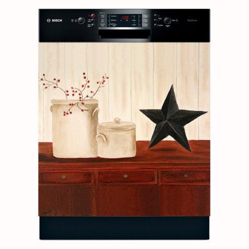 Appliance Art Crocks & Star Dishwasher Magnet Cover (Large)