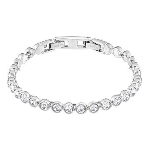 Swarovski Women's Tennis Jewelry Collection, Rhodium Finish, Clear Crystals