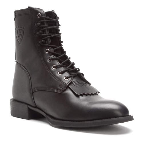 Ariat Hombres Heritage Lacer Bota Black