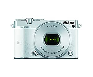 Nikon 1 J5 Mirrorless Digital Camera w/ 10-30mm PD-ZOOM Lens (White)