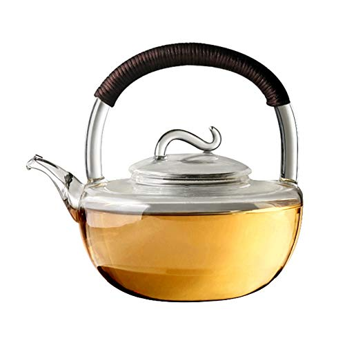 Baiyun flyin Japanese-style Glass Teapot, Household Heat-resistant Transparent Glass Kettle Portable Teapot, Can Be Directly Heated By Electric Ceramic Stove, 950ML