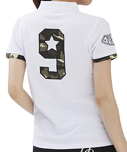 DELSOL GOLF LL カモフラナンバーポロシャツ 7369 ホワイト デルソル ゴルフウェア レディース