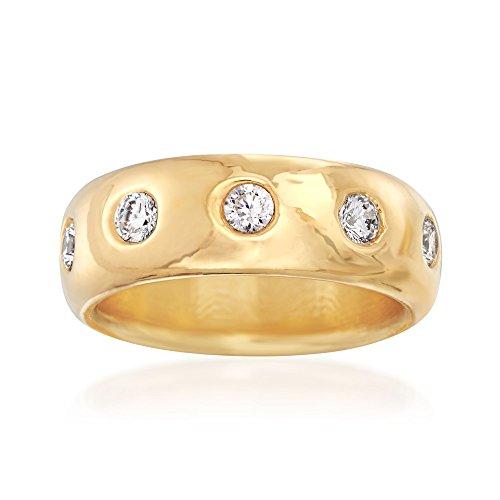 Ross-Simons Italian Andiamo 1.00 ct. t.w. CZ Eternity Ring in 14kt Gold by Ross-Simons