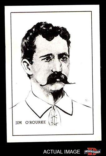 1950 Callahan Hall of Fame Jim O'Rourke New York Giants (Baseball Card) Dean's Cards 8 - NM/MT Giants