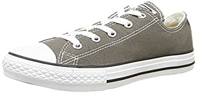 7J794 KIDS INFANT CHUCK TAYLOR ALL STAR LOW CONVERSE CHARCOAL (10 Toddler/Infant)