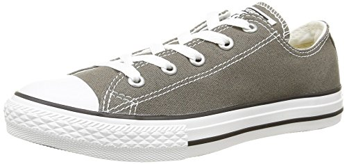 Converse Kid's Chuck Taylor All Star Low Top Shoe, charcoal, 3 M US Little Kid (Converse Gray Shoes)