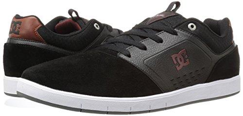 DC Men's Cole Signature Skateboarding Shoe, Black/Red/White, 10 M US