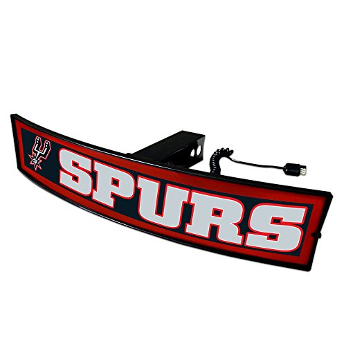 CC Sports Decor NBA - San Antonio Spurs Light Up Hitch Cover - 21''x9.5'' by CC Sports Decor